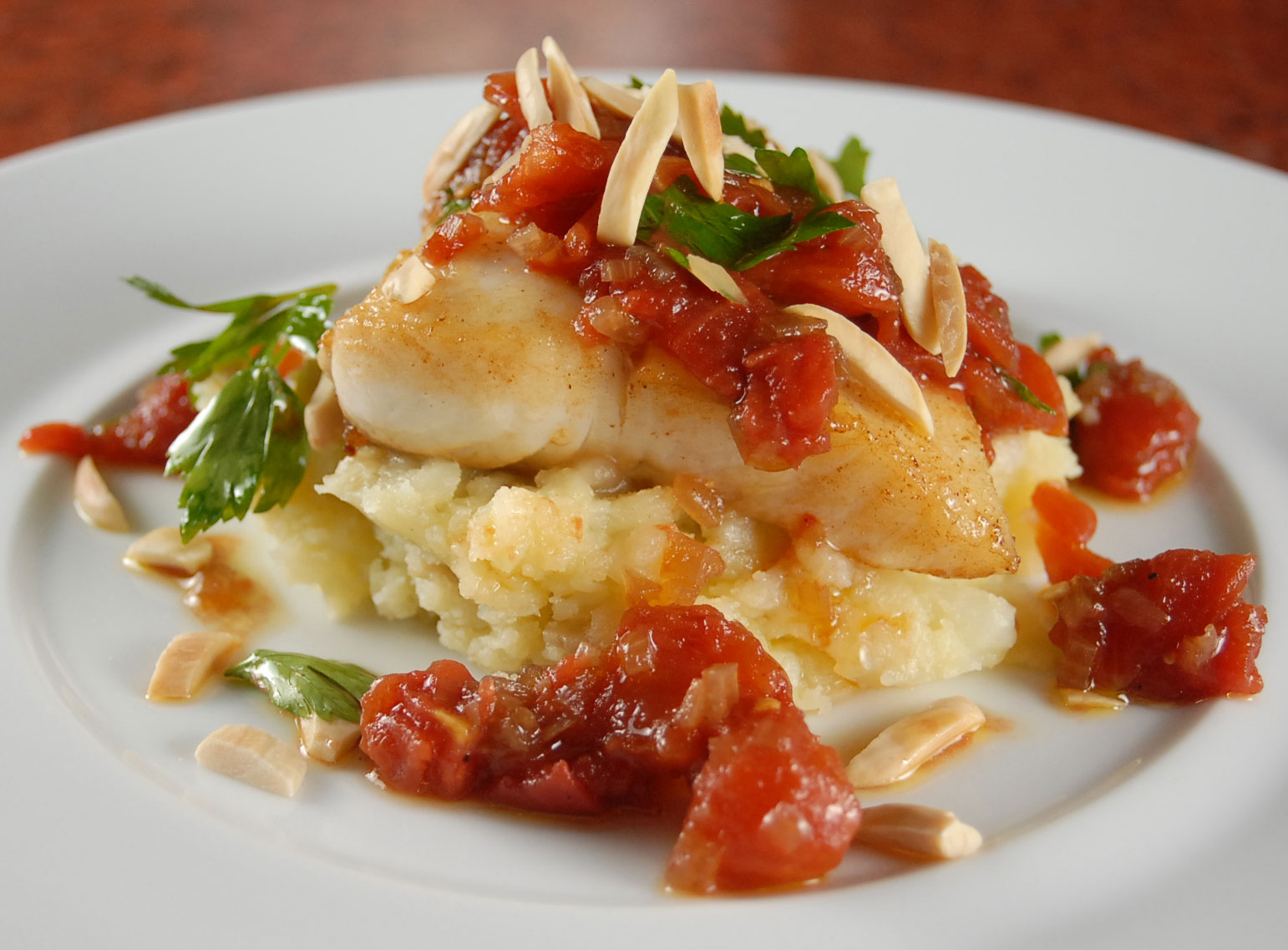 Roasted halibut with tomato shallot salsa for How to cook halibut fish