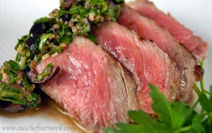 Local Organic Steak with Kalamata Chimichurri Sauce