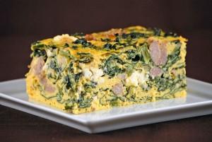 Kale, Sausage and Feta Frittata