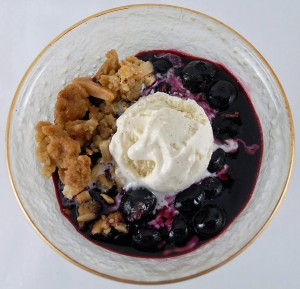 EVOO's Local Blueberry Crisp