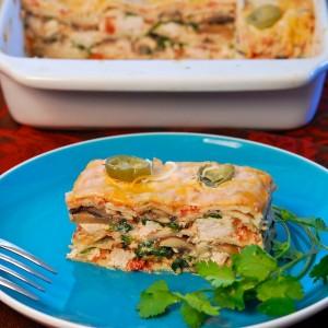 Tortilla and Chicken Lasagna