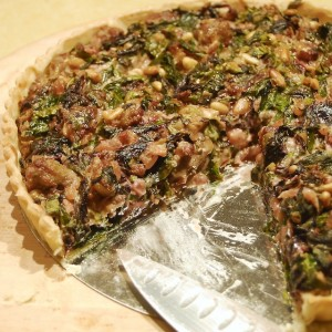 Rainbow Chard and Sausage Tart