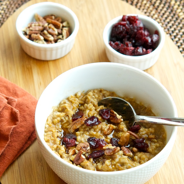 Baked Pumpkin Steel Cut Oatmeal Recipes — Dishmaps