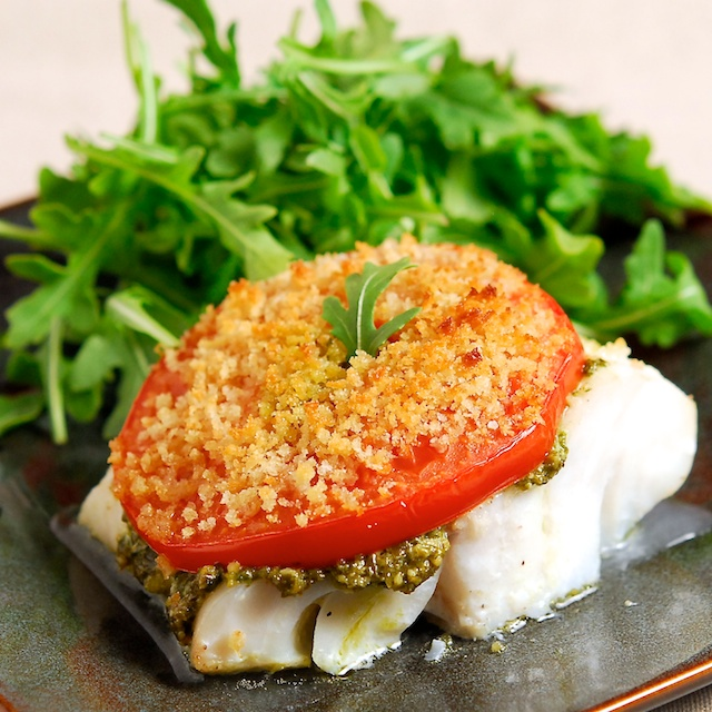 Roasted Cod Caprese- Blog 145