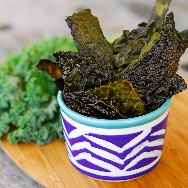 Finished Kale Chips - Blog 212