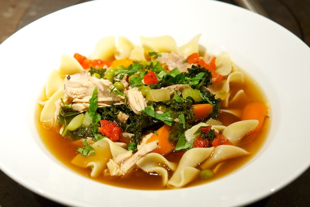 Ming and Muppets Chicken Noodle Soup - Oui, Chef