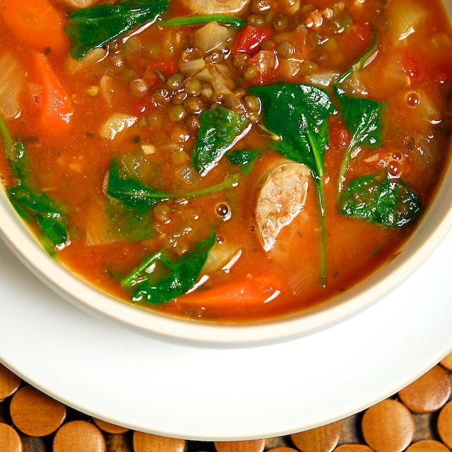 French Lentil and Sausage Soup