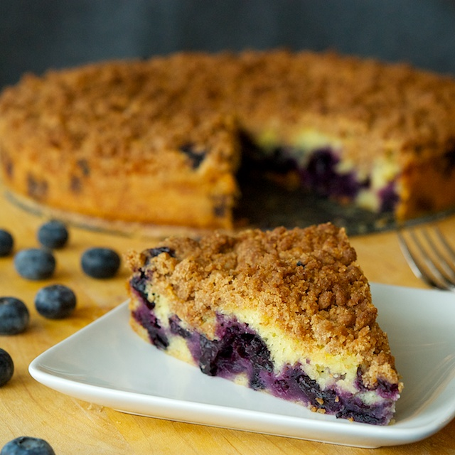 Blueberry streusel plated - Blog 526