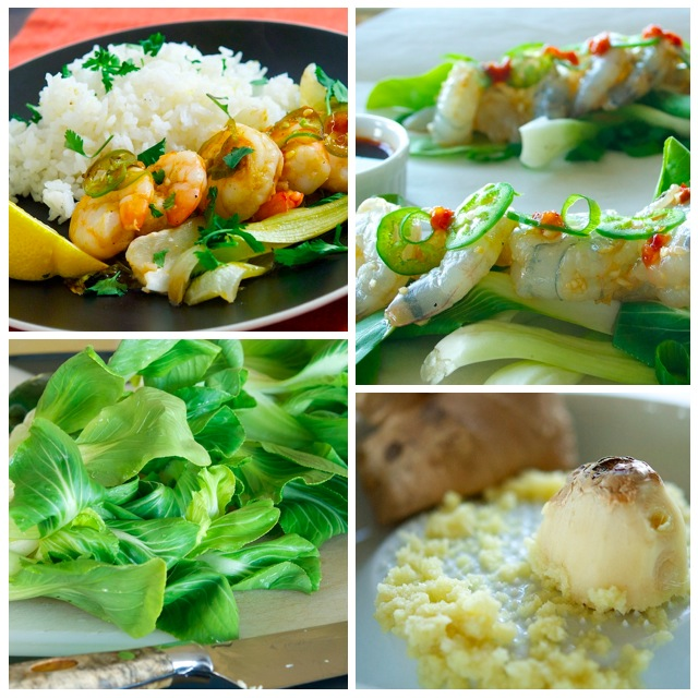 Asian Shrimp Collage