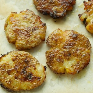 Pop-Squish Roasted Potatoes