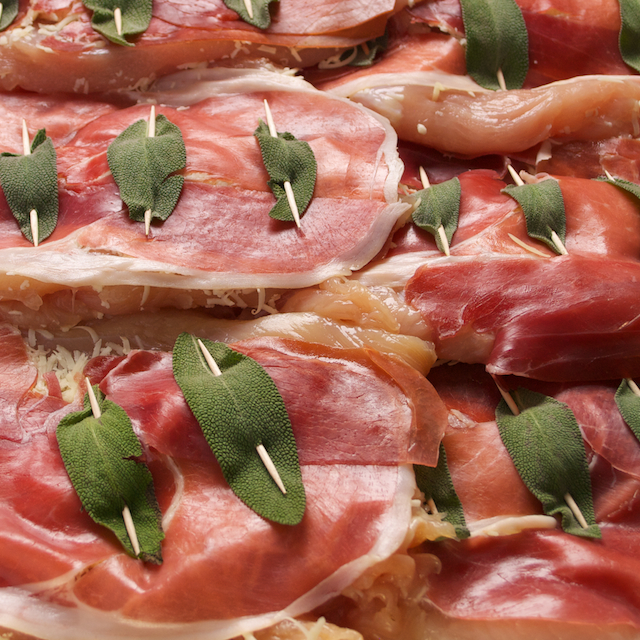 Almost Chicken Saltimbocca