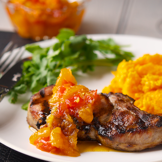 Pork with clementine jam- Blog 1344