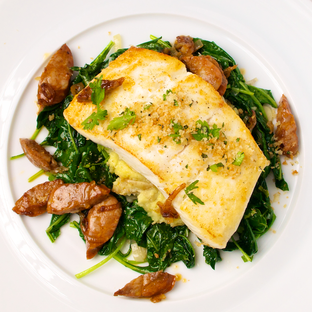 Halibut with Chorizo - Blog 1453