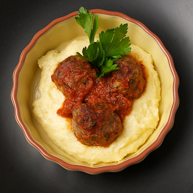 Cooked meatballs top - Blog 3386
