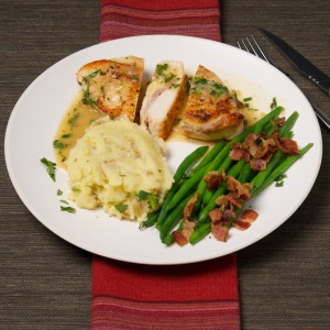 Stuffed Chicken and Herb Gravy