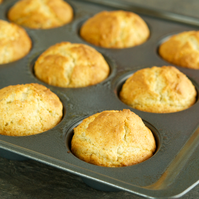 Muffins in pan-  Blog 3624