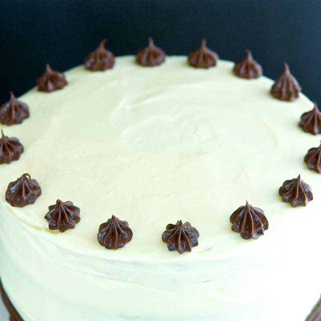 Bittersweet Chocolate Cake with Cream Cheese Frosting - Oui, Chef