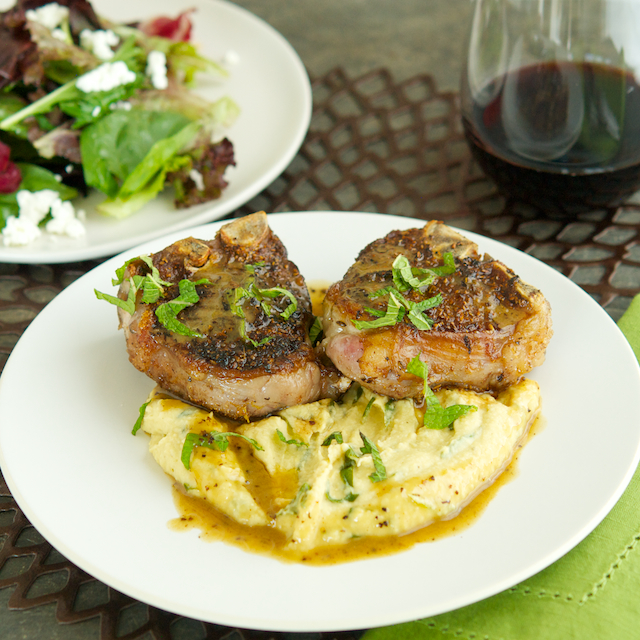 Spiced Lamb Chops with Chickpea and Ramp Purée - Oui, Chef