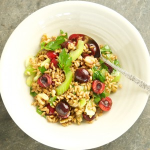 Farro, Cherry and Walnut Salad
