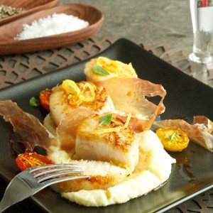 Scallops with Parsnip Puree a la Sorella