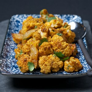 Roasted Cauliflower with Curry and Red Vinegar