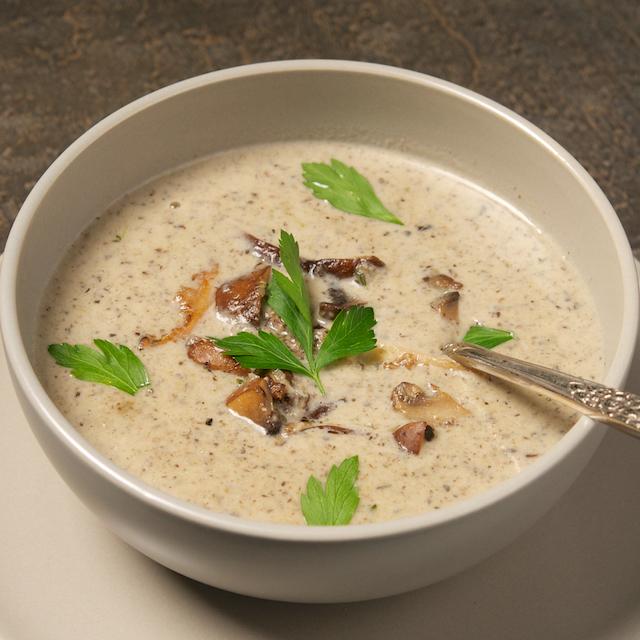 Creamed Mushroom Soup - Oui, Chef