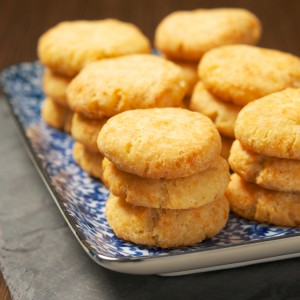Spicy Cheddar Shortbread Cookies