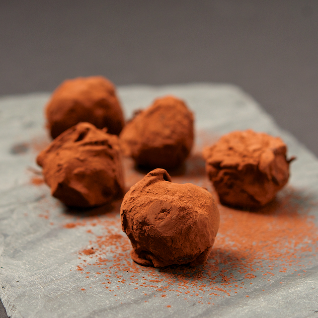 Bittersweet Chocolate Truffles Recipe — Dishmaps