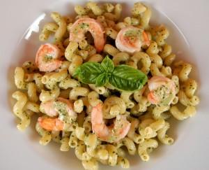 Creamy Pesto Pasta with Shrimp