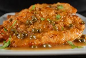 Chicken Paillards with Lemon Caper Sauce