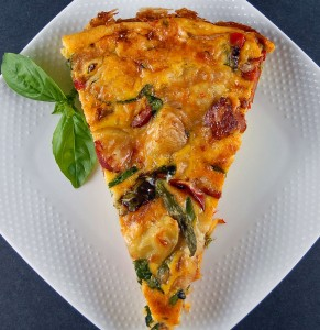 Chorizo and Spinach Frittata