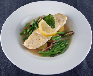 Jody Adams' Halibut Braised in Ginger-Lemongrass Broth