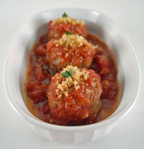 Lamb Meatballs Stuffed with Chevre