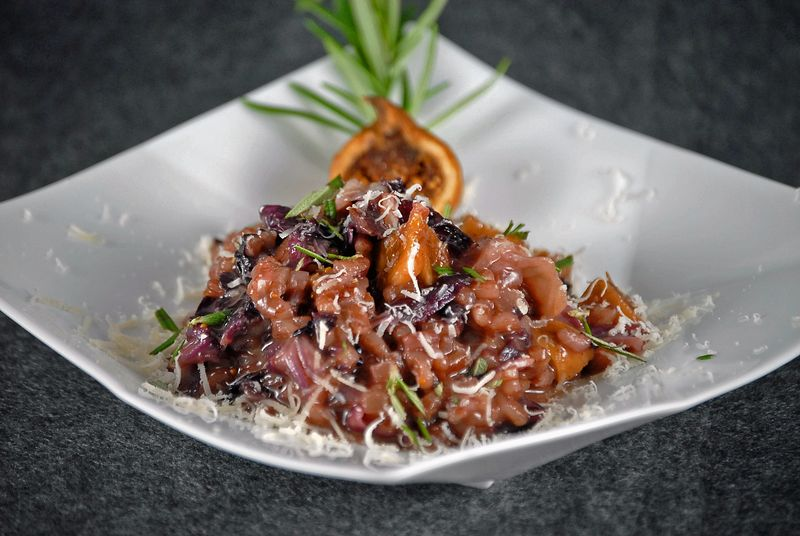 Fig and Radicchio Risotto 4