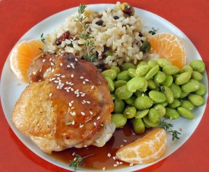 Sautéed Chicken Thighs with Orange-Soy Sauce