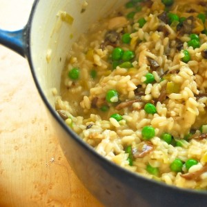 Porcini Risotto with Chicken and Rosemary