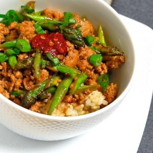 Spicy Pork with Asparagus