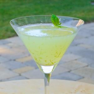 Basil-Vodka Gimlet