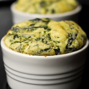 Chard and Jarlsberg Soufflé