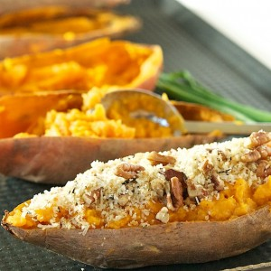 Twice Baked Curried Sweet Potatoes