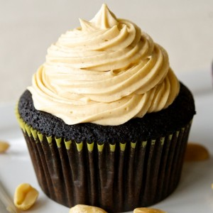 GF Chocolate Cupcakes with Peanut Butter Frosting