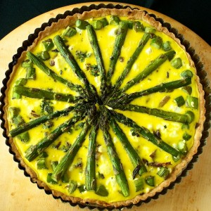 Roasted Fennel, Goat Cheese and Asparagus Tart