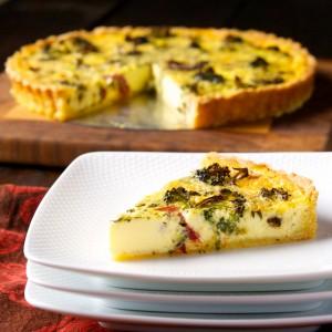 Broccoli and Tarragon Quiche
