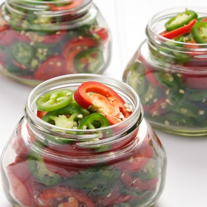 Asian Pickled Peppers