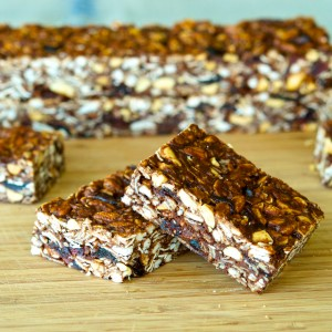 Chocolate-Peanut Butter Granola Bars