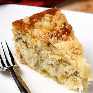 Rhubarb and Ginger Buckle