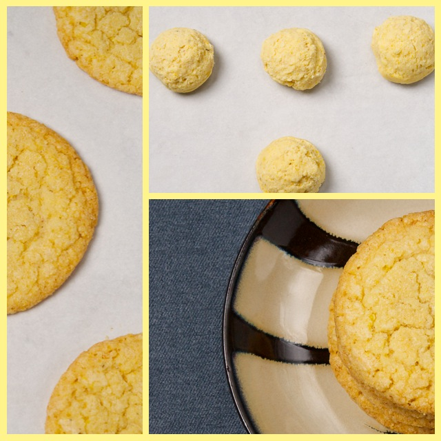 Corn cookie collage