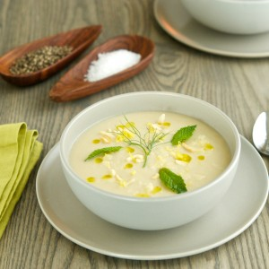 Fennel Soup with Almonds and Mint