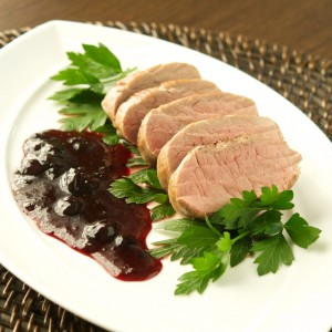 Sous Vide Pork Tenderloin with Blueberry Gastrique