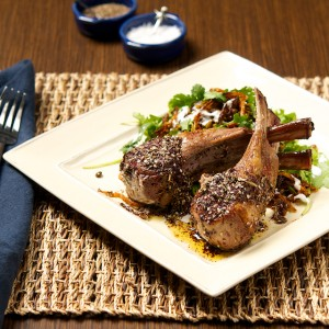 Roasted Za'atar Lamb Chops with Mejadra